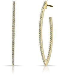 Anne Sisteron - 14kt Yellow Gold Diamond Moderna Wishbone Earrings - Lyst