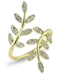 Anne Sisteron - 14kt Yellow Gold Diamond Ivy Ring - Lyst