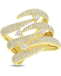 Anne Sisteron - 14kt Yellow Gold Diamond Flame Tip Ring - Lyst