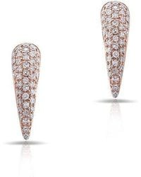 Anne Sisteron - 14kt Rose Gold Diamond Horn Stud Earrings - Lyst