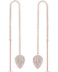 Anne Sisteron - 14kt Rose Gold Diamond Monaco Threader Earrings - Lyst