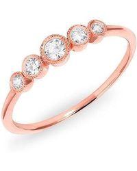 Anne Sisteron - 14kt Rose Gold Diamond Hazel Bezel Ring - Lyst
