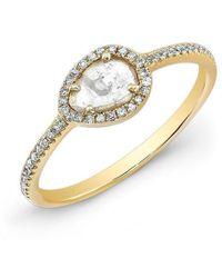 Anne Sisteron - 14kt Yellow Gold Sasha Diamond Slice Ring - Lyst