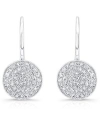 Anne Sisteron - 14kt White Gold Diamond Disc Earrings - Lyst