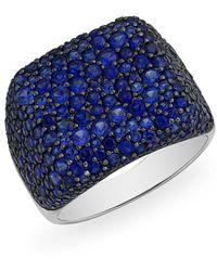 Anne Sisteron - 14kt White Gold Blue Sapphire Stingray Ring - Lyst