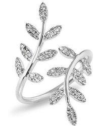 Anne Sisteron - 14kt White Gold Diamond Ivy Ring - Lyst