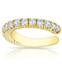 Anne Sisteron | 14kt Yellow Gold Diamond Lola Hinged Ear Cuff | Lyst