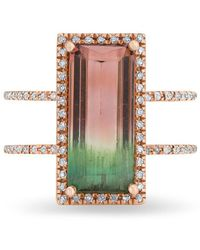 Anne Sisteron - 14kt Rose Gold Diamond Summer Watermelon Ring - Lyst