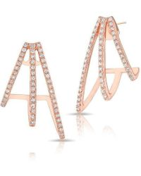 Anne Sisteron - 14kt Rose Gold Diamond Voyage Stud Earrings - Lyst