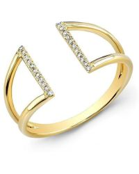 Anne Sisteron - 14kt Yellow Gold Diamond Space Ring - Lyst