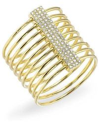Anne Sisteron - 14kt Yellow Gold Diamond Slink Ring - Lyst