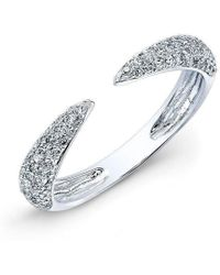 Anne Sisteron - 14kt White Gold Diamond Horn Ring - Lyst