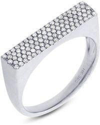 Anne Sisteron - 14kt White Gold Diamond Brick Ring - Lyst