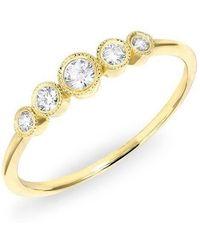 Anne Sisteron - 14kt Yellow Gold Diamond Hazel Bezel Ring - Lyst