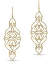 Anne Sisteron - 14kt Yellow Gold Diamond Manoir Diamond Earrings - Lyst