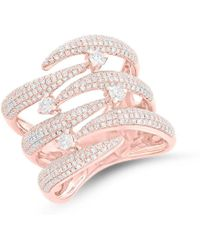 Anne Sisteron - 14kt Rose Gold Diamond Flame Tip Ring - Lyst