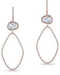 Anne Sisteron - 14kt Rose Gold Pearl And Diamond Ariella Earrings - Lyst