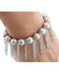 Anne Sisteron - Oyster Pearl Bracelet With Sterling Silver Fringe Chain - Lyst