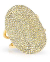 Anne Sisteron - 14kt Yellow Gold Diamond Oval Armor Ring - Lyst