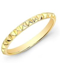 Anne Sisteron - 14kt Yellow Gold Pyramid Stacking Ring - Lyst