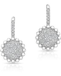 Anne Sisteron - 14kt White Gold Diamond Scalloped Wireback Earrings - Lyst