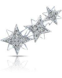 Anne Sisteron - 14kt White Gold Diamond Stars Ear Climber - Lyst