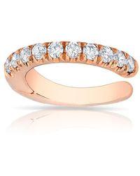 Anne Sisteron - 14kt White Gold Diamond Lola Hinged Ear Cuff - Lyst