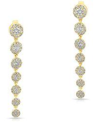 Anne Sisteron - 14kt Yellow Gold Diamond Francesca Earrings - Lyst