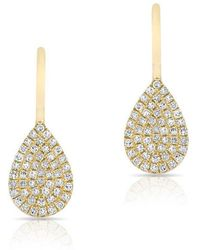 Anne Sisteron   14kt Yellow Gold Diamond Mini Pear Wireback Earrings   Lyst