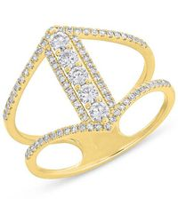 Anne Sisteron - 14kt Yellow Gold Diamond Eliza Ring - Lyst