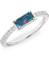 Anne Sisteron - 14kt White Gold Diamond Opal Maddie Diamond Ring - Lyst