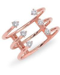 Anne Sisteron | 14kt Rose Gold Diamond Open Cage Ring | Lyst