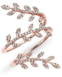 Anne Sisteron - 14kt Rose Gold Diamond Vine Wrap Ring - Lyst