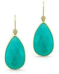 Anne Sisteron | 14kt Yellow Gold Amazonite Earrings | Lyst