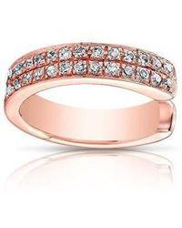 Anne Sisteron | 14kt Rose Gold Diamond Chloe Ear Cuff | Lyst