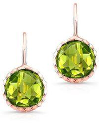 Anne Sisteron - 14kt Rose Gold Peridot Earrings - Lyst