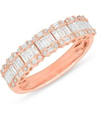 Anne Sisteron - 14kt Rose Gold Baguette Diamond Ysabel Ring - Lyst