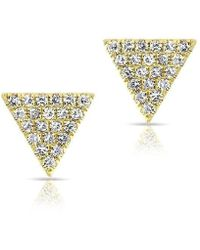 Anne Sisteron - 14kt Yellow Gold Diamond Small Triangle Emma Stud Earrings - Lyst