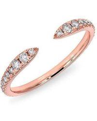 Anne Sisteron - 14kt Rose Gold Diamond Pierce Ring - Lyst