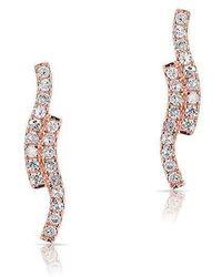 Anne Sisteron - 14kt Rose Gold Diamond Ripple Stud Earrings - Lyst