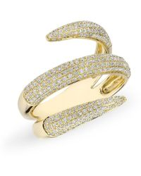 Anne Sisteron - 14kt Yellow Gold Diamond Claw Wrap Diamond Ring - Lyst