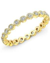 Anne Sisteron - 14kt Yellow Gold Bezel Set Diamond Ring - Lyst