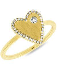 Anne Sisteron - 14kt Yellow Gold Diamond Amorette Ring - Lyst