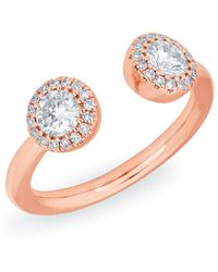 Anne Sisteron - 14kt Rose Gold Diamond Pia Pinkie Ring - Lyst