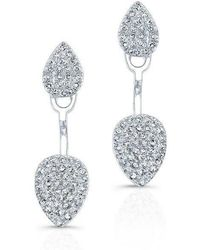 Anne Sisteron - 14kt White Gold Pear Shaped Floating Earrings - Lyst