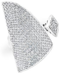 Anne Sisteron - 14kt White Gold Diamond Valkyrie Ring - Lyst
