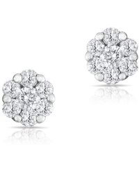 Anne Sisteron - 14kt White Gold Diamond Round Stud Earrings - Lyst