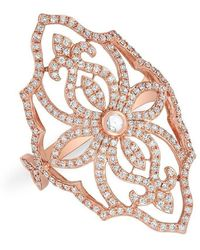 Anne Sisteron - 14kt Rose Gold Diamond Manoir Ring - Lyst