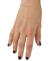 Anne Sisteron - 14kt Yellow Gold Diamond Solitaire Hand Chain - Lyst