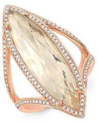 Anne Sisteron - 14kt Rose Gold Diamond Topaz Serena Ring - Lyst